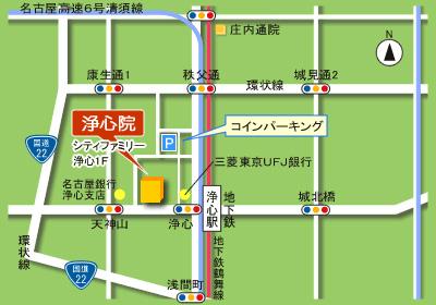 浄心院の地図
